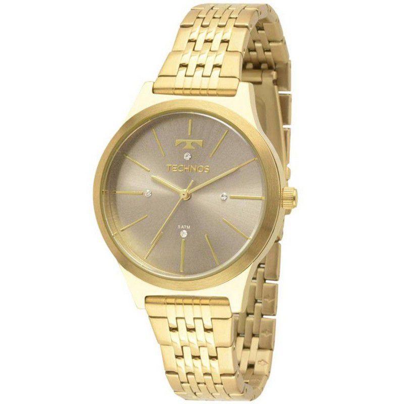 Relógio Technos Feminino Aço Inoxidável Dourado Analógico 2039BE/4C