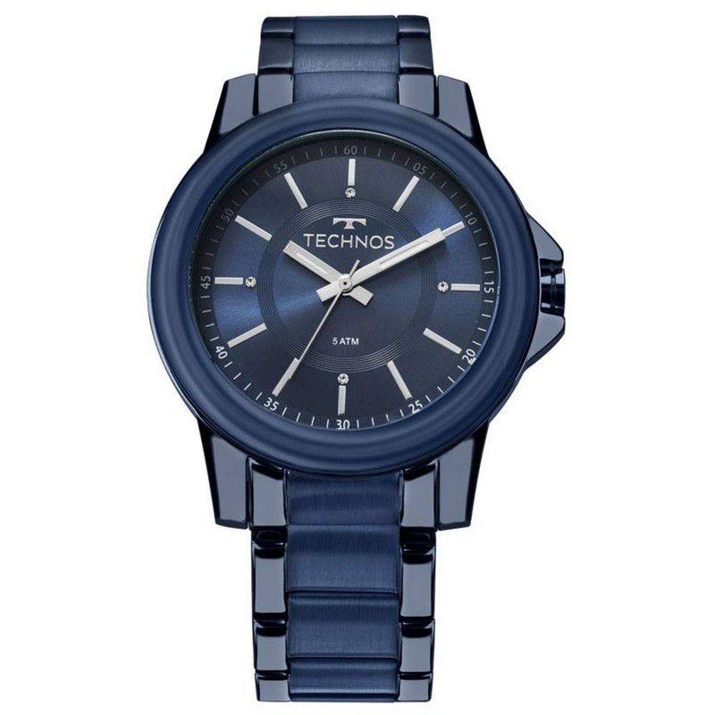 Relógio Technos Feminino Azul Aço Inox Analógico 2035MKJ/4A