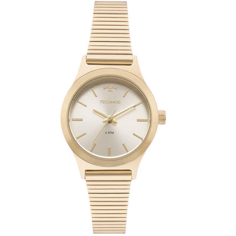 Relógio Technos Feminino Dourado Aço Inox Analógico 2035MMF/4X