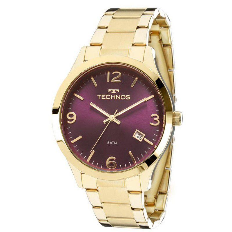 Relógio Technos Feminino Dourado Aço Inox Analógico 2315ACD/4N