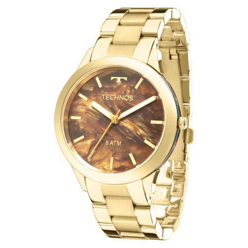 Relógio Technos Feminino Dourado Aço Inox Analógico Y121E5DF/4M