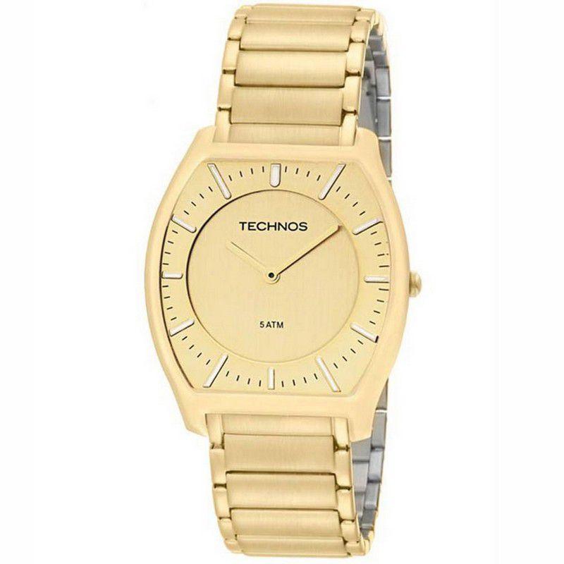 Relógio Technos Feminino Dourado Aço Inoxidável Analógico GL20HD/4X