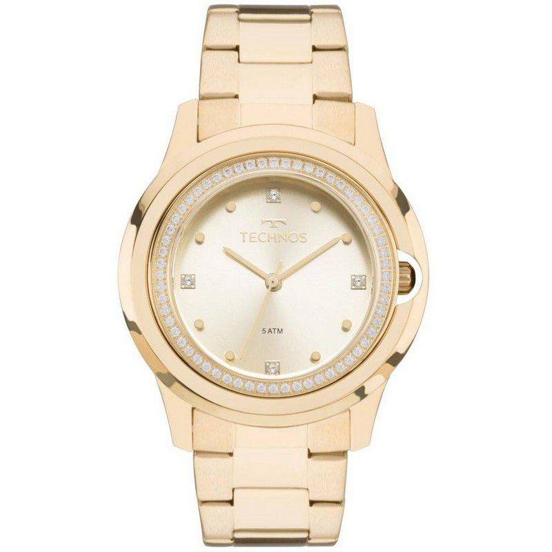 Relógio Technos Feminino Dourado Elegance Aço Inox Analógico 2035MLH/4X