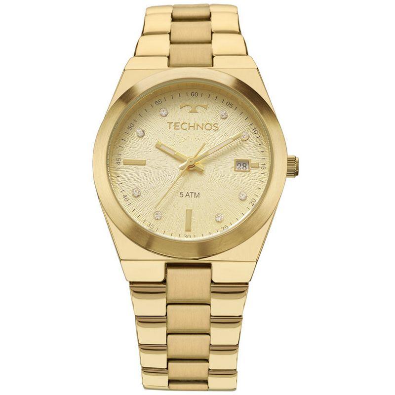Relógio Technos Feminino Dourado Fashion Trend Aço Inox Analógico 2115KZR/4X