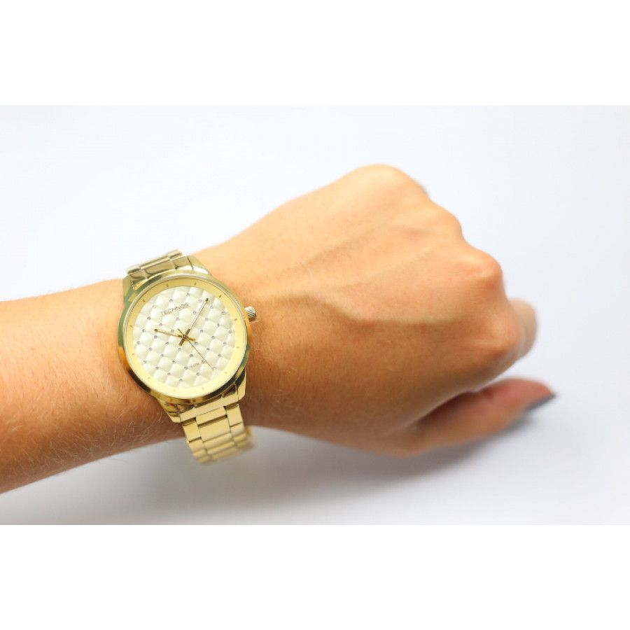 Relógio Technos Feminino Dourado Fashion Trend Analógico Aço Inox 2035LXU/4D