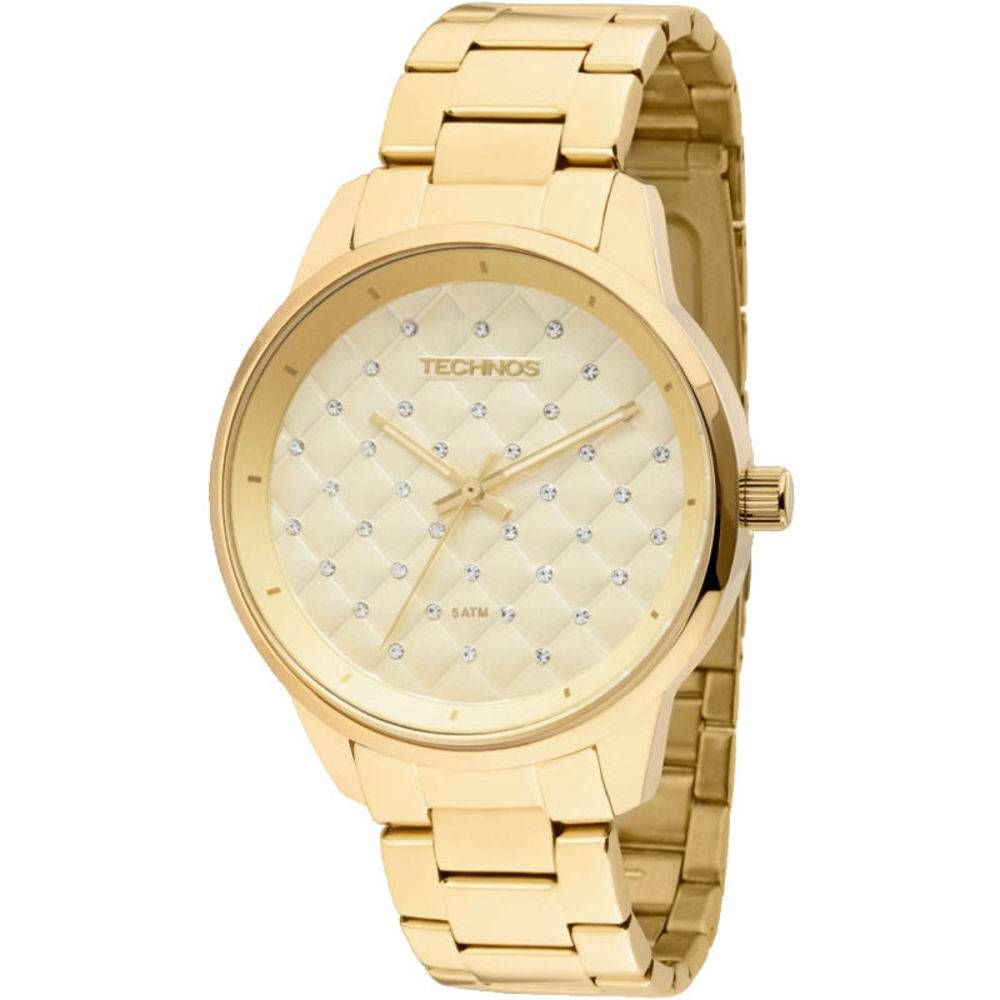 Relógio Technos Feminino Dourado Fashion Trend Analógico Aço Inox 2035MBW/4X