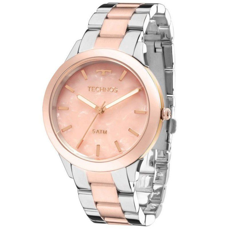 Relógio Technos Feminino Prata Aço Inox Analógico Y121E5DG/5T