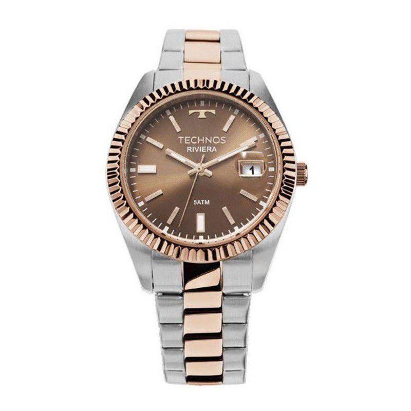 Relógio Technos Feminino Riviera Aço Inox Prata Analógico 2115KTS/3M