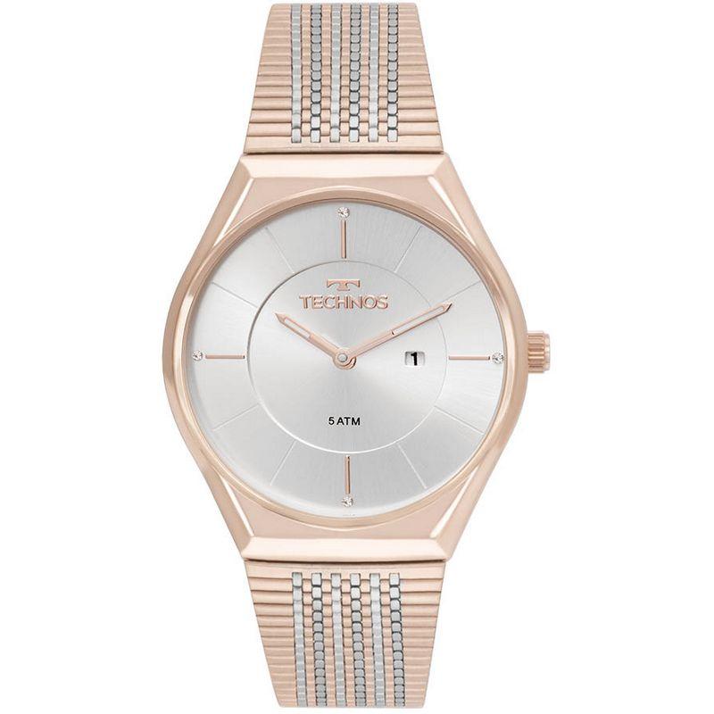 Relógio Technos Feminino Rosé e Prata Misto Fashion Aço Inox GL15AP/4B