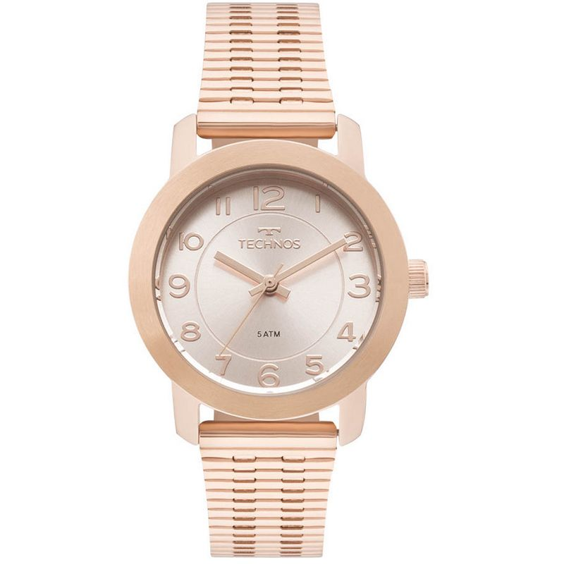 Relógio Technos Feminino Rosé Elegance Aço Inox Analógico 2035MLT/4J