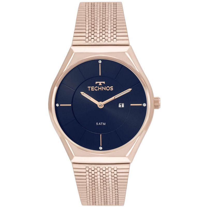 Relógio Technos Feminino Rosé Fashion Trend Aço Inox Analógico GL15AQ/4A