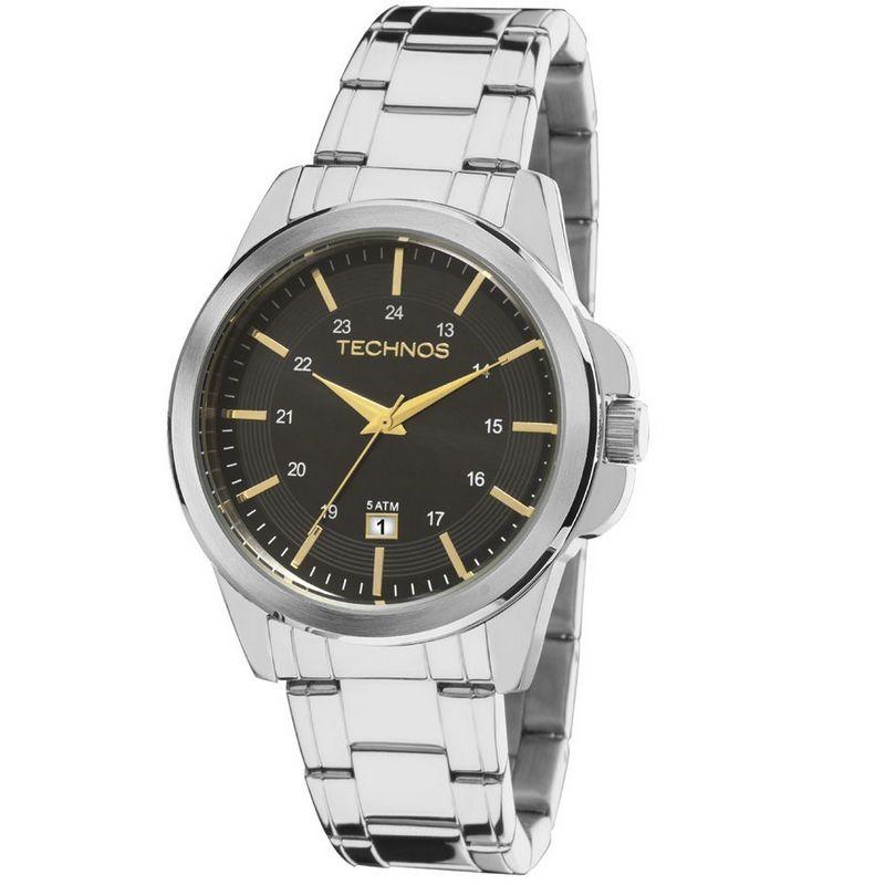 Relógio Technos Masculino Classic Steel Aço Inox Prata Analógico 2115MLA/1P