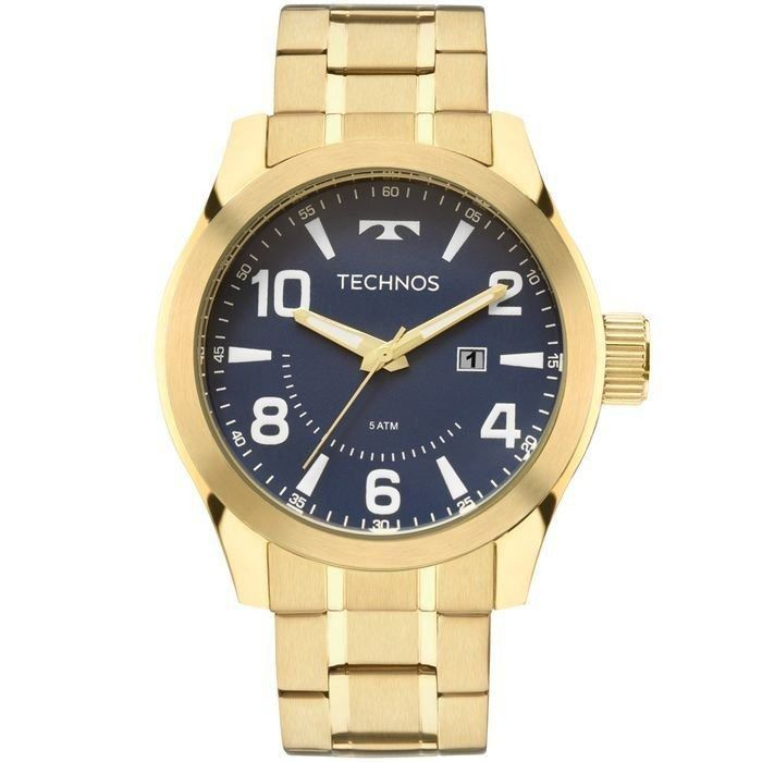 874cefa25e8b6 Relógio Technos Masculino Dourado Aço Inox Analógico 2115MGQ 4A - Empório  das Alianças ...
