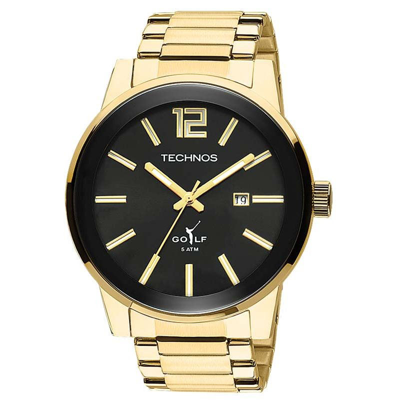 1cb0dd51c298f Relógio Technos Masculino Dourado Aço Inox Golf Analógico 2115TT 4P -  Empório das Alianças ...