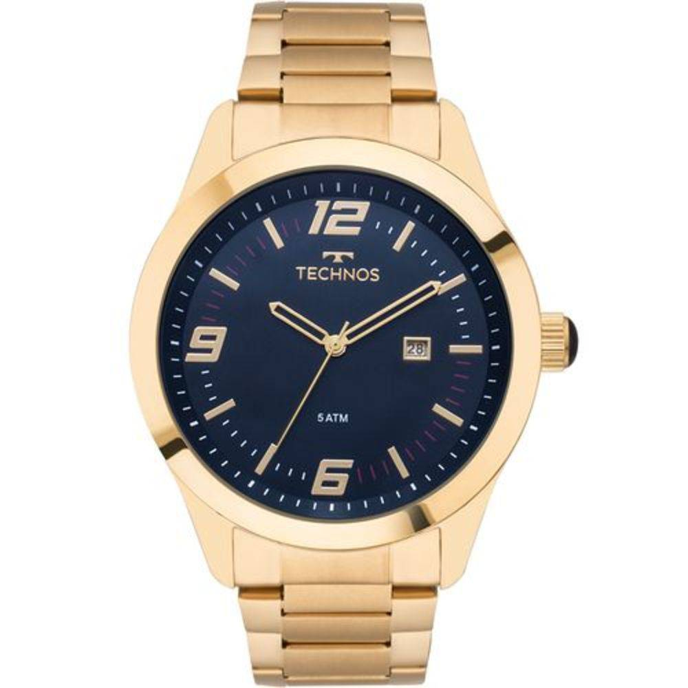 Relógio Technos Masculino Dourado Performance Racer Aço Inox Analógico 2115MNZ/4A