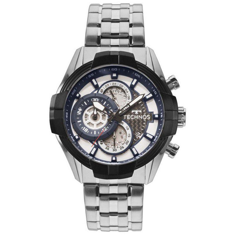 Relógio Technos Masculino Prata Aço Inox Cronógrafo JS15EV/1P