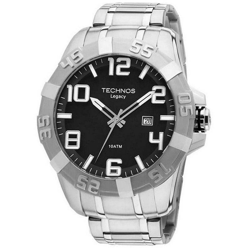 Relógio Technos Masculino Prata Legacy Aço Inoxidável Analógico 2315AAZ/1P