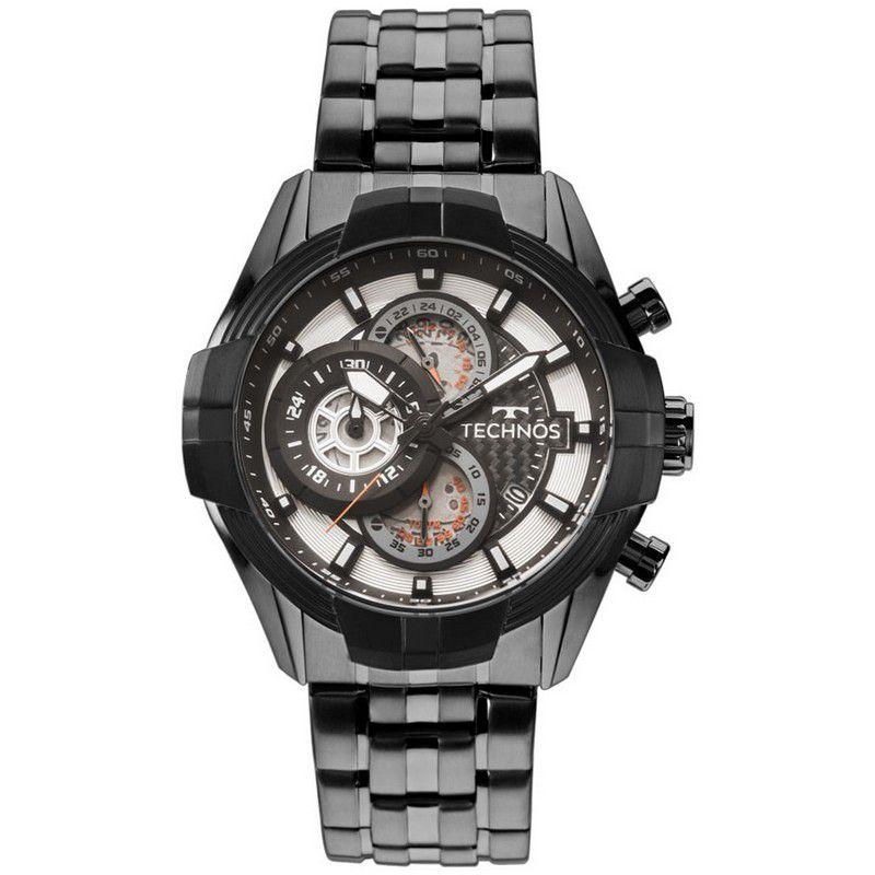 Relógio Technos Masculino Preto Aço Inox Cronógrafo JS15EX/4P