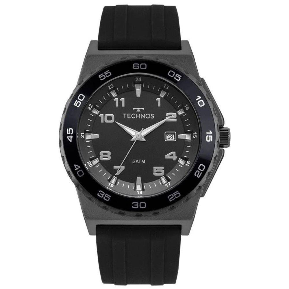 Relógio Technos Masculino Preto Silicone Performance Racer Analógico 2115MQO/8P