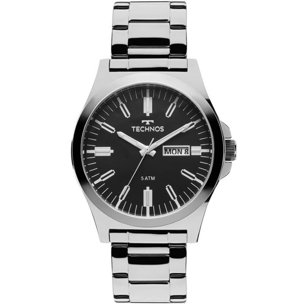 Relógio Technos Masculino Steel Aço Inox Prata Analógico 2305AX/1P