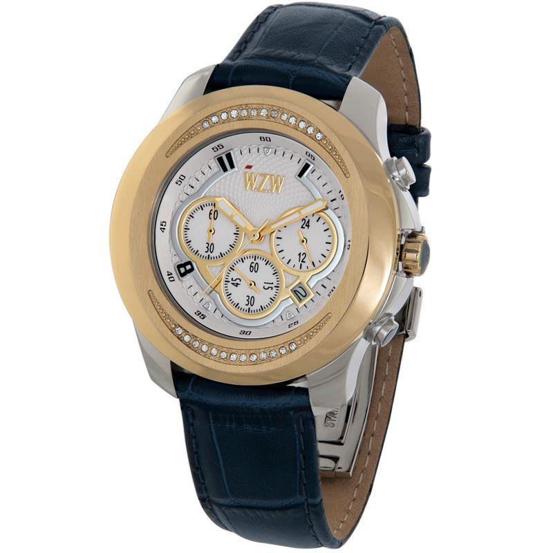Relógio W.Z.W Feminino Couro Cronógrafo Multi Função WZW-7268
