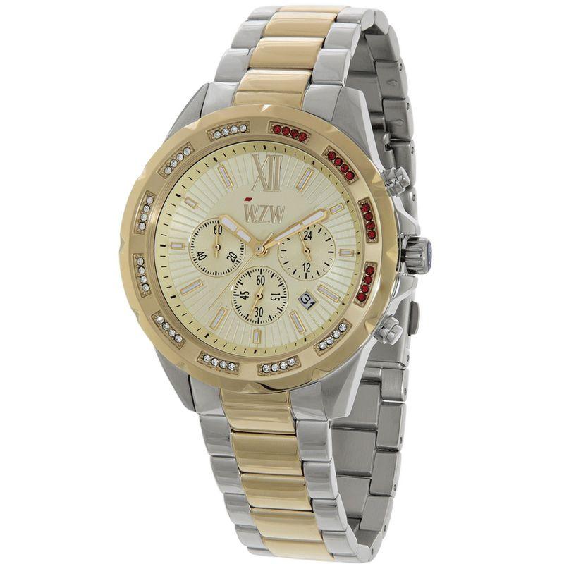 Relógio W.Z.W Feminino Misto Cronógrafo Aço Inoxidável WZW-7257