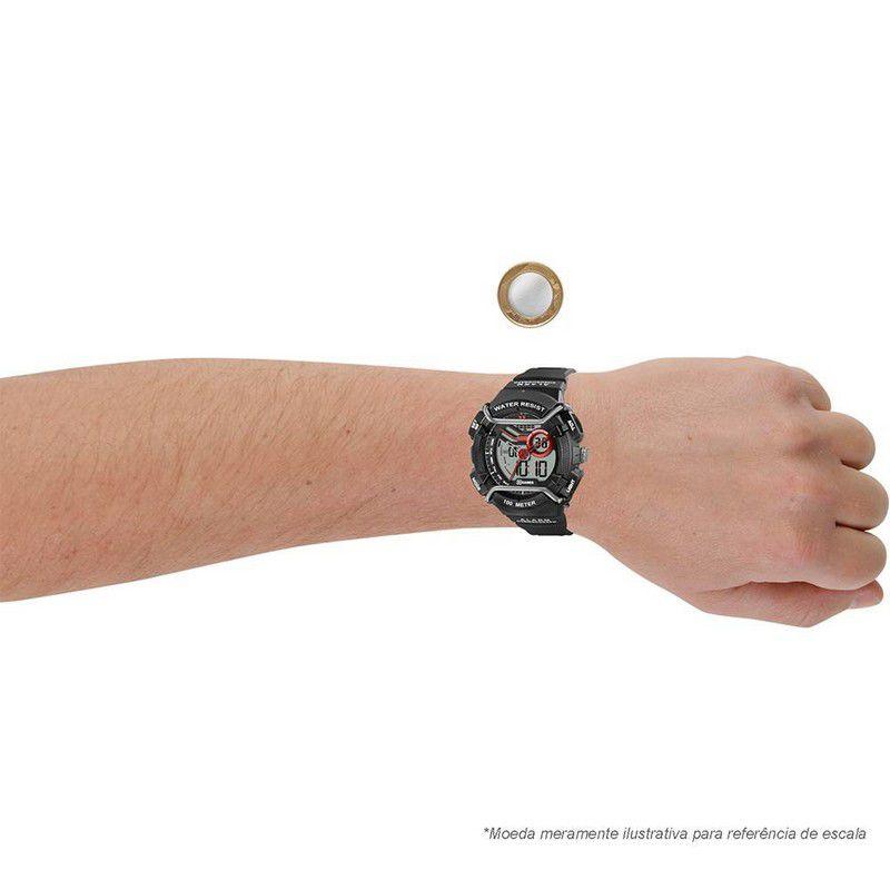 Relógio Xgames Masculino Poliuretano Anadigi Alarme Calendário Cronômetro XMPPA177 BXPX