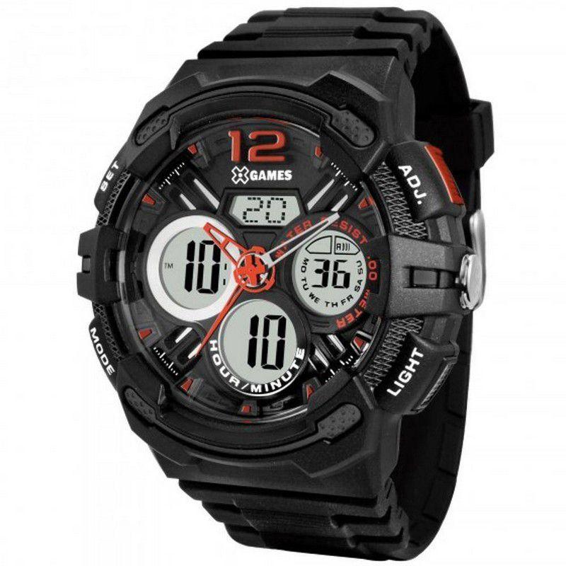Relógio Xgames Masculino Poliuretano Anadigi Alarme Calendário Cronógrafo XMPPA124 P2PX