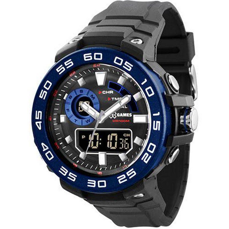 Relógio Xgames Masculino Poliuretano Anadigi Alarme Calendário Cronógrafo XMPPA169 PXPX