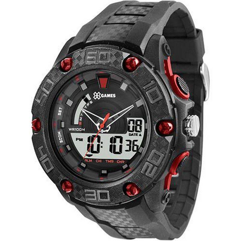 Relógio Xgames Masculino Poliuretano Anadigi Alarme Calendário Cronógrafo XMPPA171 BXPX