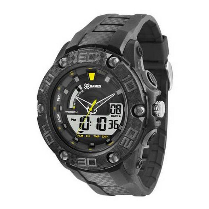 Relógio Xgames Masculino Poliuretano Anadigi Alarme Calendário Cronômetro XMPPA172 BXPX