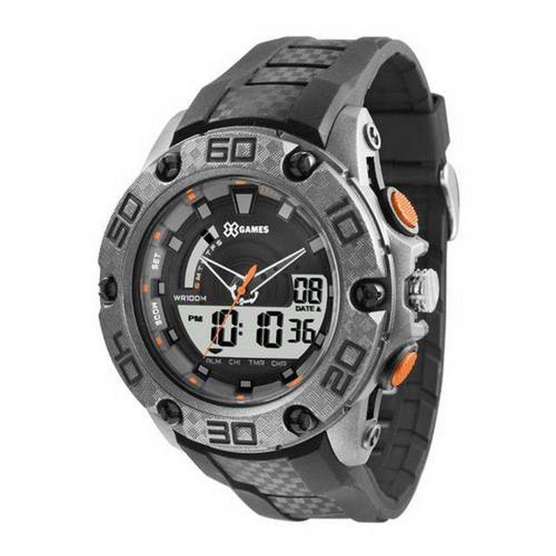 Relógio Xgames Masculino Poliuretano Anadigi Alarme Calendário Cronômetro XMPPA173 BXPX