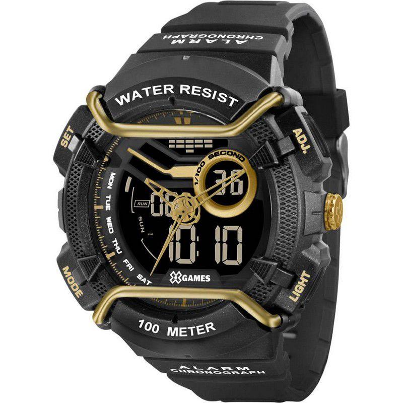 Relógio Xgames Masculino Poliuretano Anadigi Alarme Calendário Cronômetro XMPPA178 PXPX