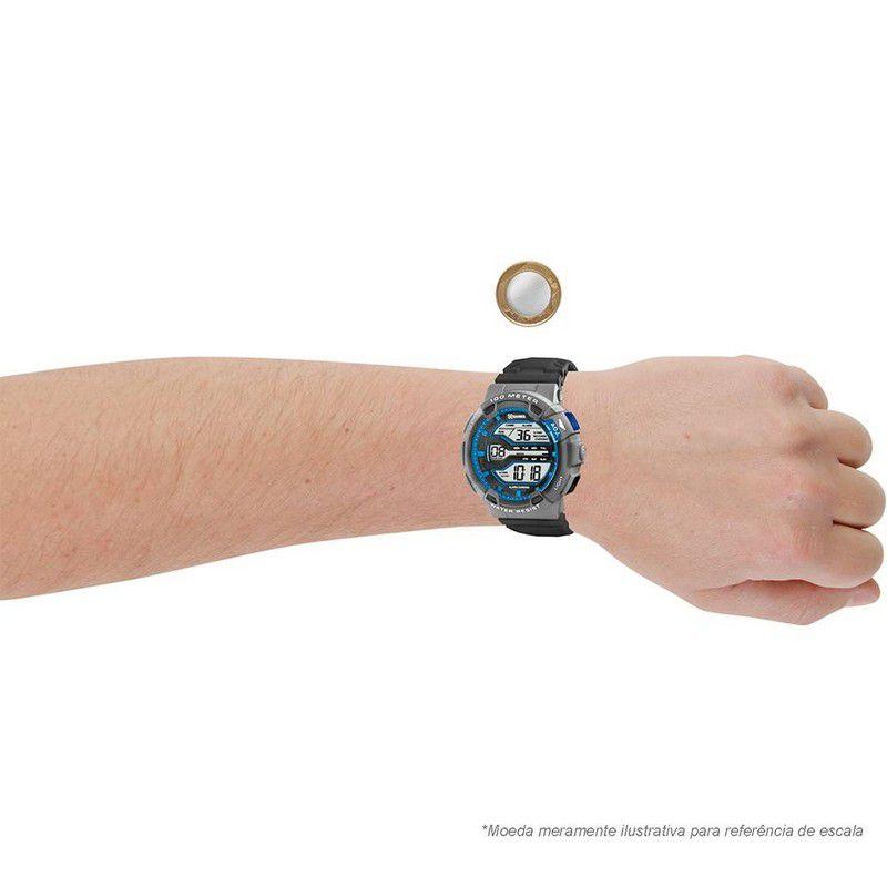 Relógio Xgames Masculino Poliuretano Digital Alarme Calendário Cronógrafo XMPPD294 BXGX