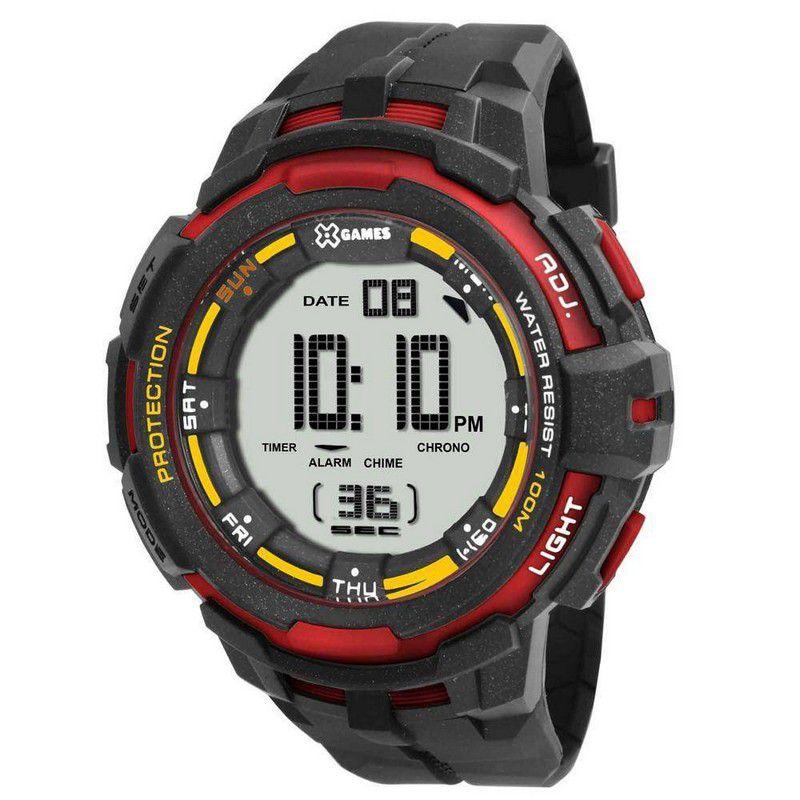 Relógio Xgames Masculino Poliuretano Digital Calendário Alarme Cronômetro XMPPD352 BXPX