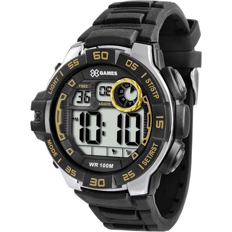 Relógio Xgames Masculino Silicone Digital Alarme Calendário Cronógrafo XMPPD328 BXPX