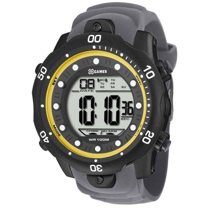 Relógio Xgames Masculino Silicone Digital Alarme Calendário Cronógrafo XMPPD354 BXGX