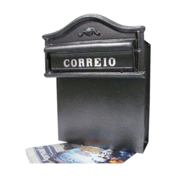"""CAIXA DE CORREIO EM """"L"""" 100% ALUMÍNIO FUNDIDO"""