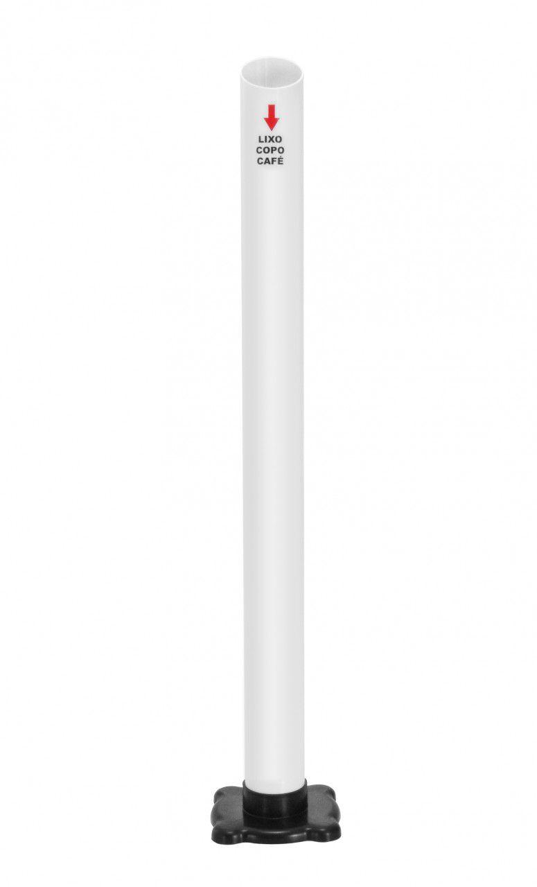 LIXEIRA 01 TUBO PARA COLETA DE COPOS DESCARTÁVEIS 50 OU 180/200 ML