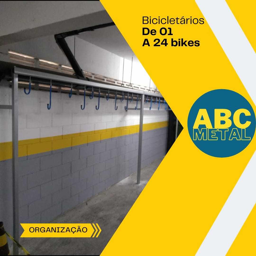 SUPORTE BICICLETÁRIO DE PAREDE PARA 24 BICICLETAS