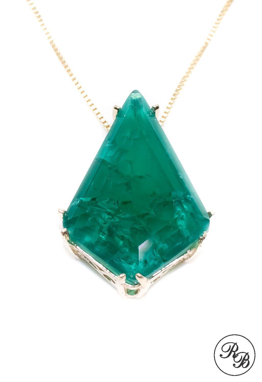 Colar Pedra Fusion Esmeralda