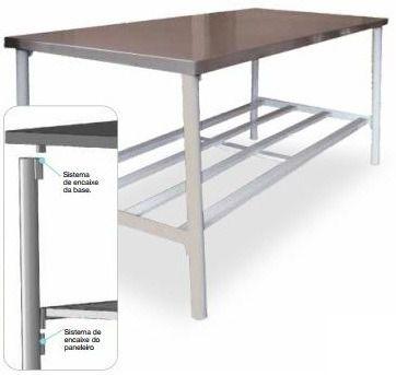Mesa Manipulação 140x90x85cm Metalcubas Ba1400x900