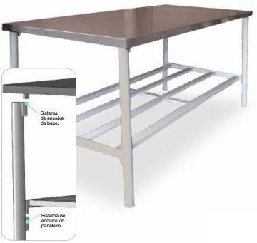 Mesa Manipulação 160x60x85cm Metalcubas Ba1600x600