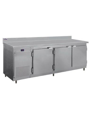 Balcão De Serviço Inox Com Encosto Frilux Rf042 750 Litros