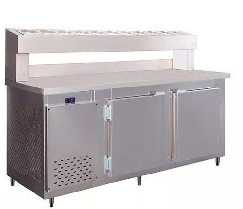 Balcão Serviço C/ Condimentador 2,50m Frilux Rf045 720 Litros