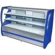 Balcão Refrigerado Inox Vidro Curvo 1,25m 2 Placas BBRC125 Polar