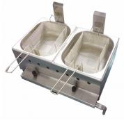 Fritador Óleo Gás Baixa Pressão Mesa 10 L (2 cubas 5lts cada ) FGOI10 Ital Inox