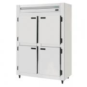 Refrigerador Comercial Inox Brilhoso 4 Portas ( Galvanizado Interno ) KRBR Kofisa