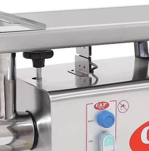 Picador de Carne Eletrônico Trifásico Caf Boca 22 Total Inox