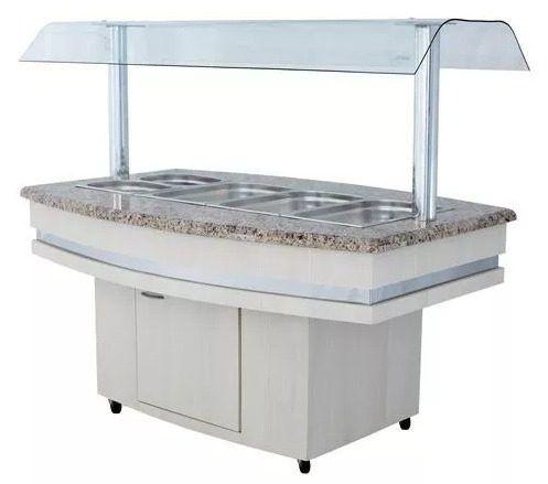 Buffet Refrigerado Luxo para 6 Cubas Frilux Rf126